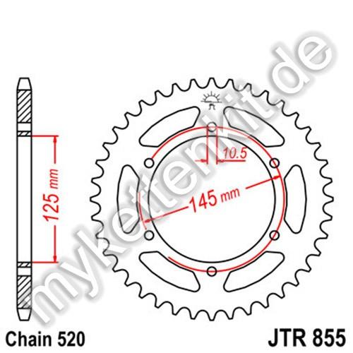 Kettenrad JTR855 Stahl