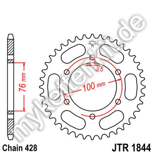 Kettenrad JTR1844 Stahl