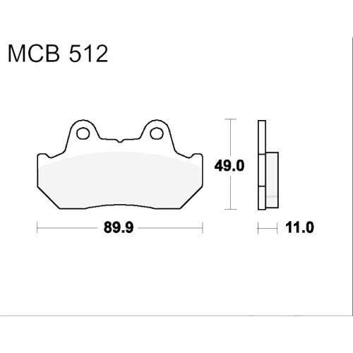 Bremsklotz Sinter vorne TRW MCB512SV (1 Satz)