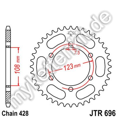 Kettenrad JTR696 Stahl