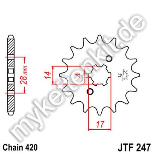 Ritzel JT Sprockets JTF247