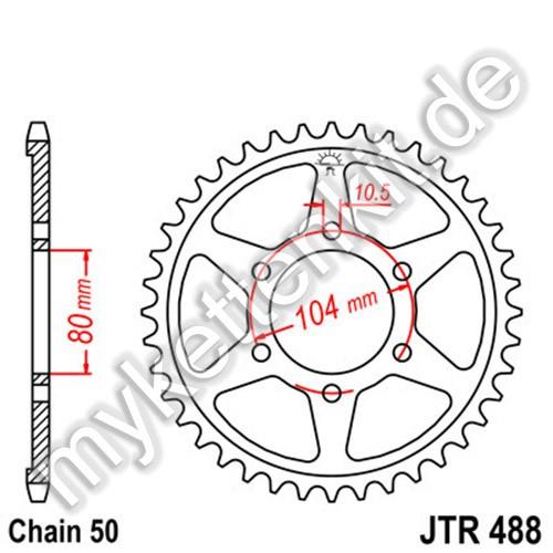 Kettenrad JTR488 Stahl