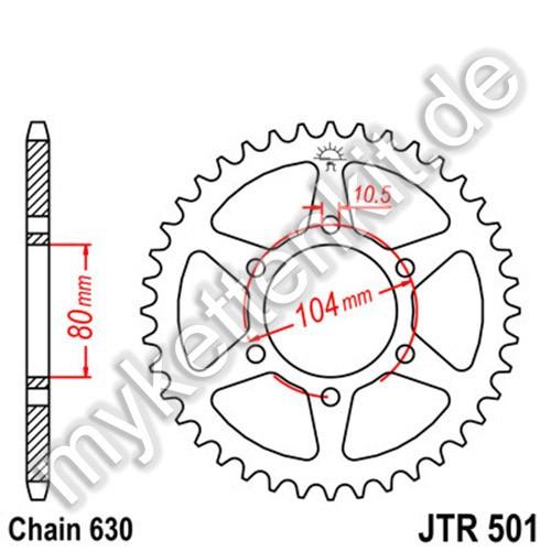 Kettenrad JTR501 Stahl