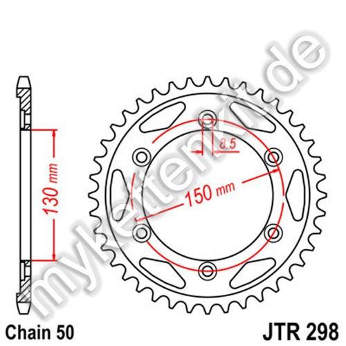 Kettenrad JTR298 Stahl