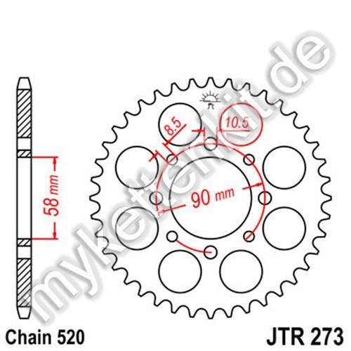 Kettenrad JTR273 Stahl