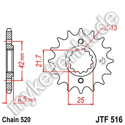 Ritzel JT Sprockets JTF516