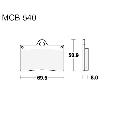 Bremsklotz Sinter vorne TRW MCB540SV (1 Satz)