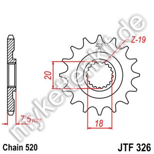 Ritzel JT Sprockets JTF326