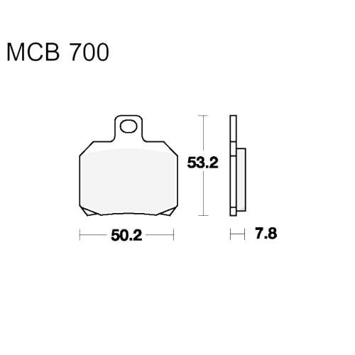 Bremsklotz Sinter hinten TRW MCB700SH (1 Satz)