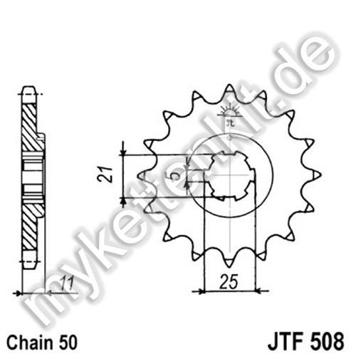 Ritzel JT Sprockets JTF508