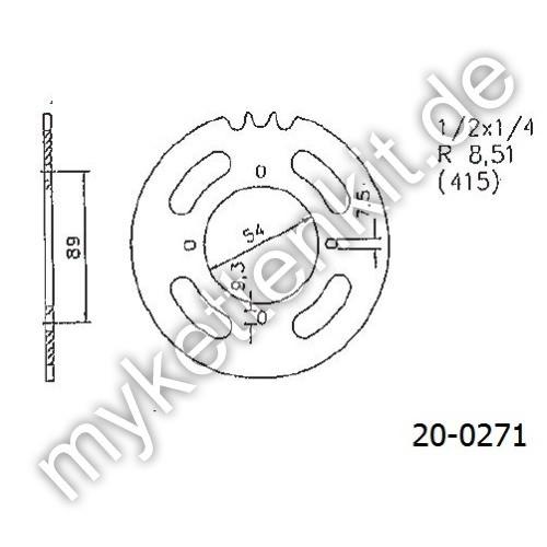 Kettenrad K20-0271 Stahl