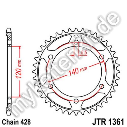 Kettenrad JTR1361 Stahl
