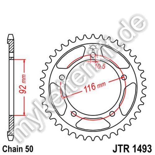 Kettenrad JTR1493 Stahl
