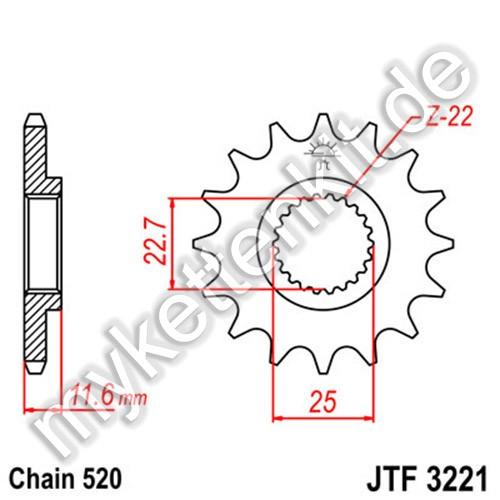 Ritzel JT Sprockets JTF3221