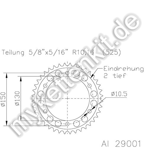 Kettenrad K51-29001 Alu