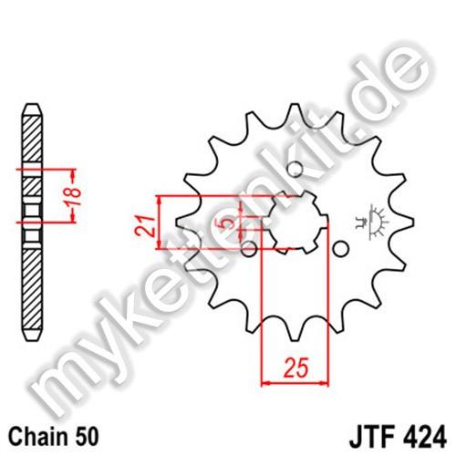 Ritzel JT Sprockets JTF424