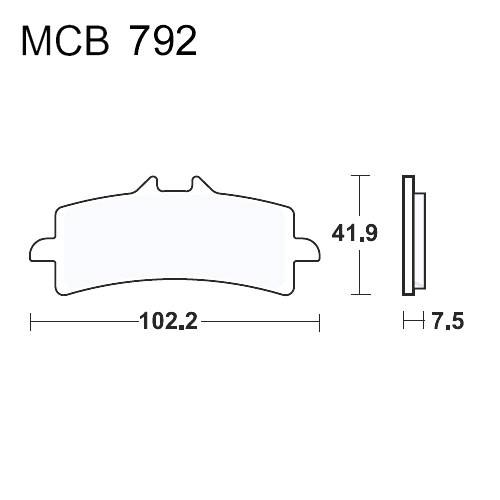 Bremsklotz Carbon CRQ TRW MCB792CRQ (1 Satz)
