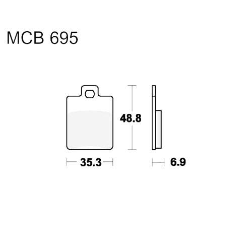 Bremsklotz Sinter Scooter TRW MCB695SR (1 Satz)
