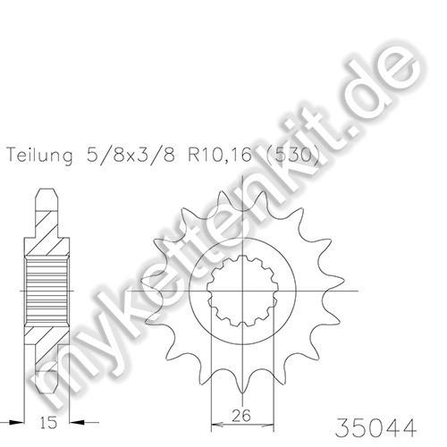 Ritzel Esjot R50-35044