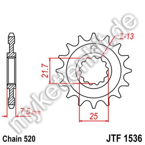 Ritzel JT Sprockets JTF1536