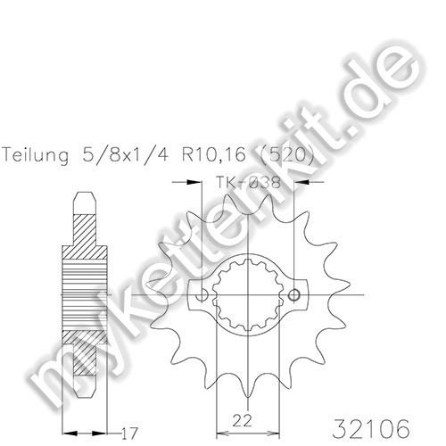 Ritzel Esjot R50-32106