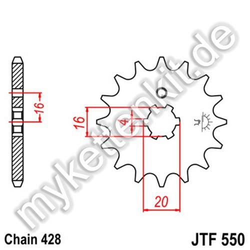 Ritzel JT Sprockets JTF550