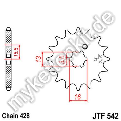 Ritzel JT Sprockets JTF542