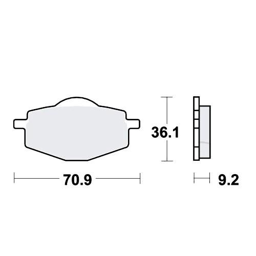 Bremsklotz LC TRW MCB539LC (1 Satz)
