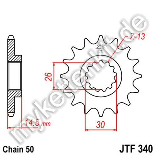 Ritzel JT Sprockets JTF340