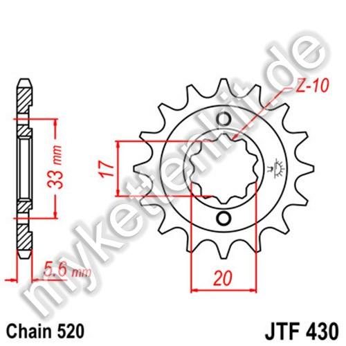 Ritzel JT Sprockets JTF430