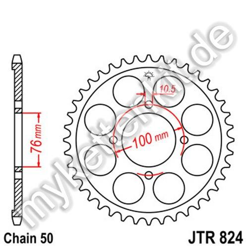 Kettenrad JTR824 Stahl