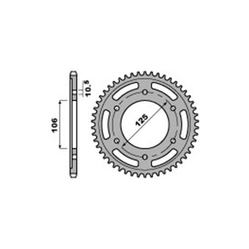 Kettenrad PBR4529 Stahl
