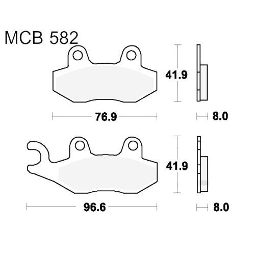 Bremsklotz Standard TRW MCB582 (1 Satz)