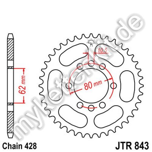 Kettenrad JTR843 Stahl