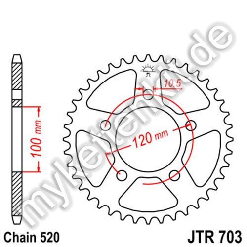 Kettenrad JTR703 Stahl