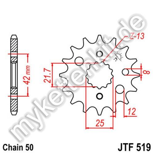 Ritzel JT Sprockets JTF519