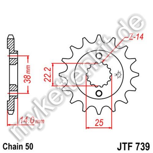 Ritzel JT Sprockets JTF739