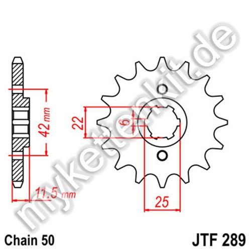 Ritzel JT Sprockets JTF289