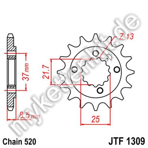 Ritzel JT Sprockets JTF1309