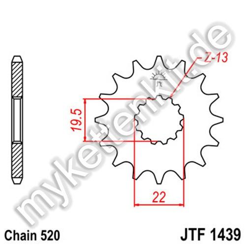Ritzel JT Sprockets JTF1439