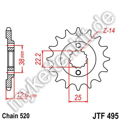 Ritzel JT Sprockets JTF495