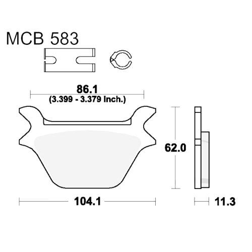 Bremsklotz Standard TRW MCB583 (1 Satz)