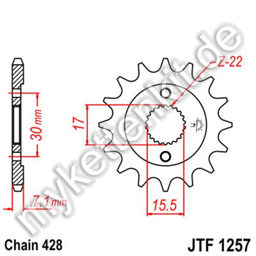5//8/x 5//16 Ritzel 15/Â Z/ähne Stahl 525er Teilung