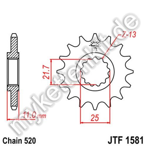 Ritzel JT Sprockets JTF1581