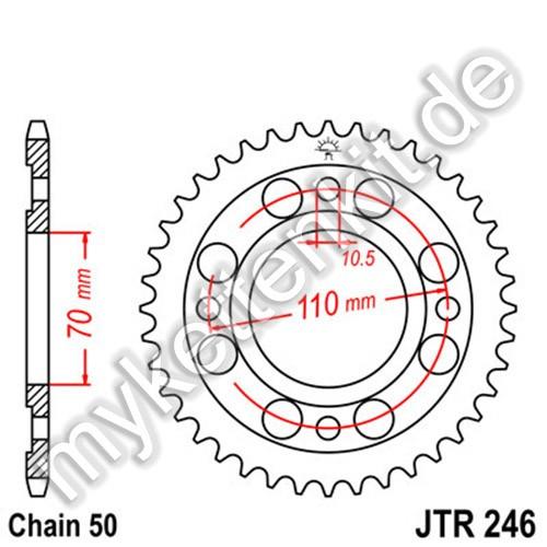 Kettenrad JTR246 Stahl