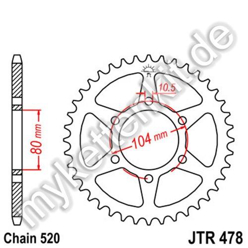 Kettenrad JTR478 Stahl