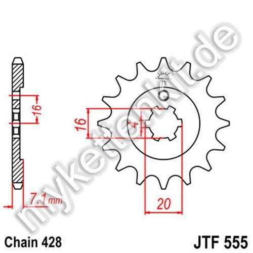 Ritzel JT Sprockets JTF555