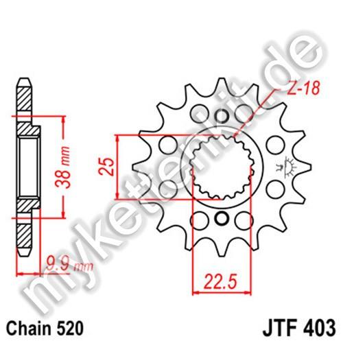Ritzel JT Sprockets JTF403
