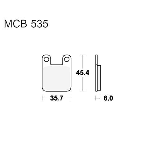 Bremsklotz Standard TRW MCB535 (1 Satz)