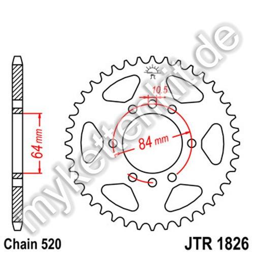 Kettenrad JTR1826 Stahl